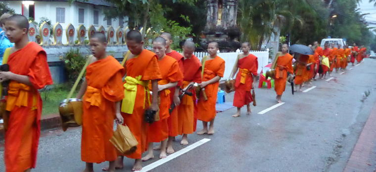 Alms Giving to the Monks