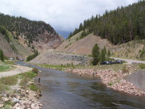 Fishing along Gunnison River