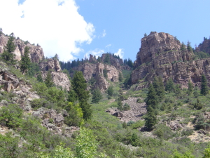 Glenwood Canyon cliffs