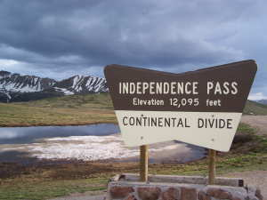 Independence Pass Sign