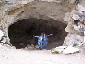 Barb and Marsha in Cave
