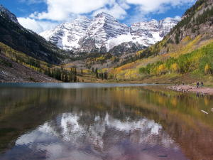 Reflection of the Maroon Bells