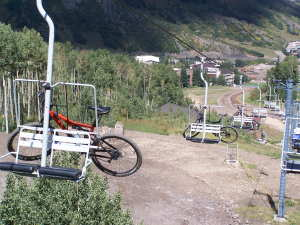 Bikes on Chairlift