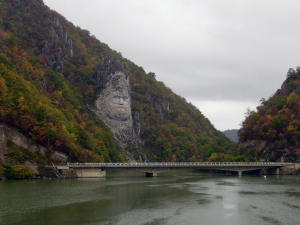 Carving along river