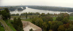 Confluence of Danube and Sava Rivers