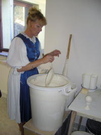 Glazing the Pottery
