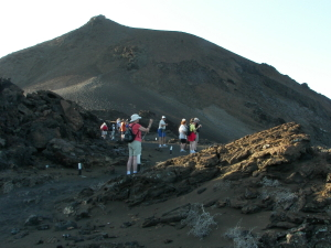 Hike on lava flow