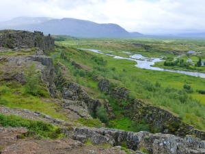 Rift between two tectonic plates