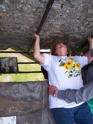 Colleen kisses the Blarney Stone