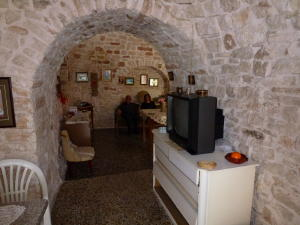 Interior of remodeled Trulli