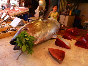 Tuna at market