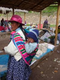 Peruvian Woman and Baby