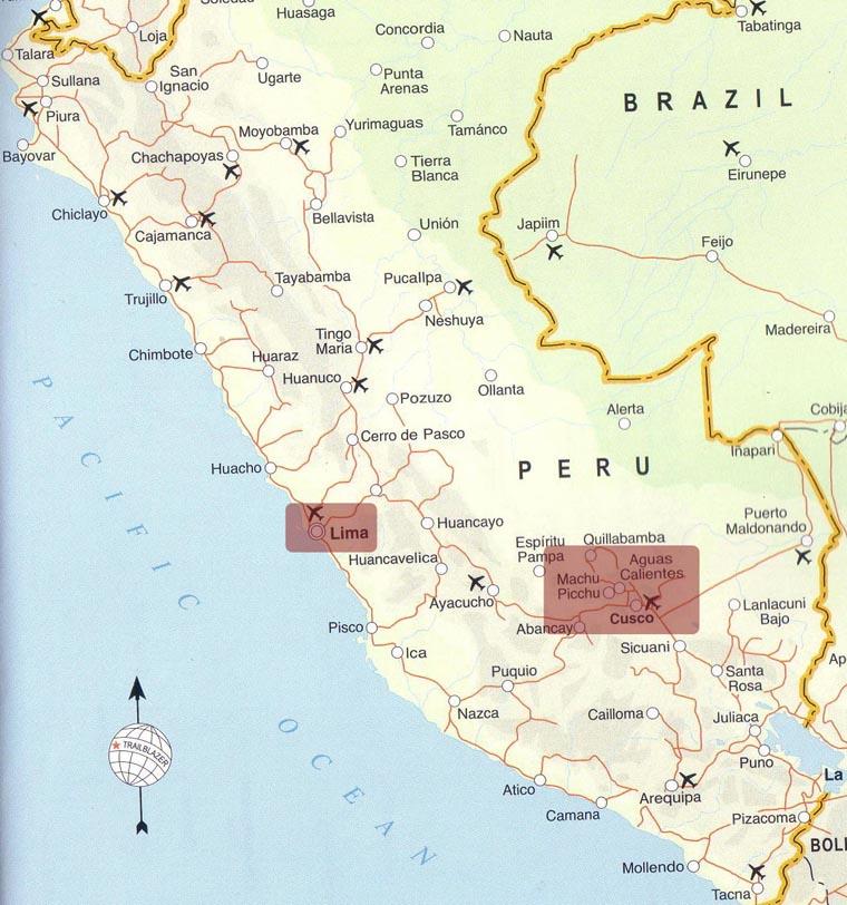 Peru Map Page