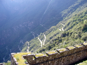 Road up to Machu Picchu