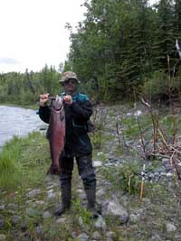 Fred with first king salmon